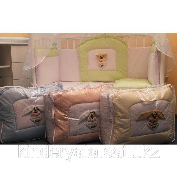 Балу: Комплект в кроватку Любимчик кремовый (желтый) 7пр