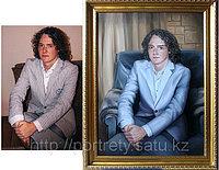 Портреты по фотографии. Юноша в кресле