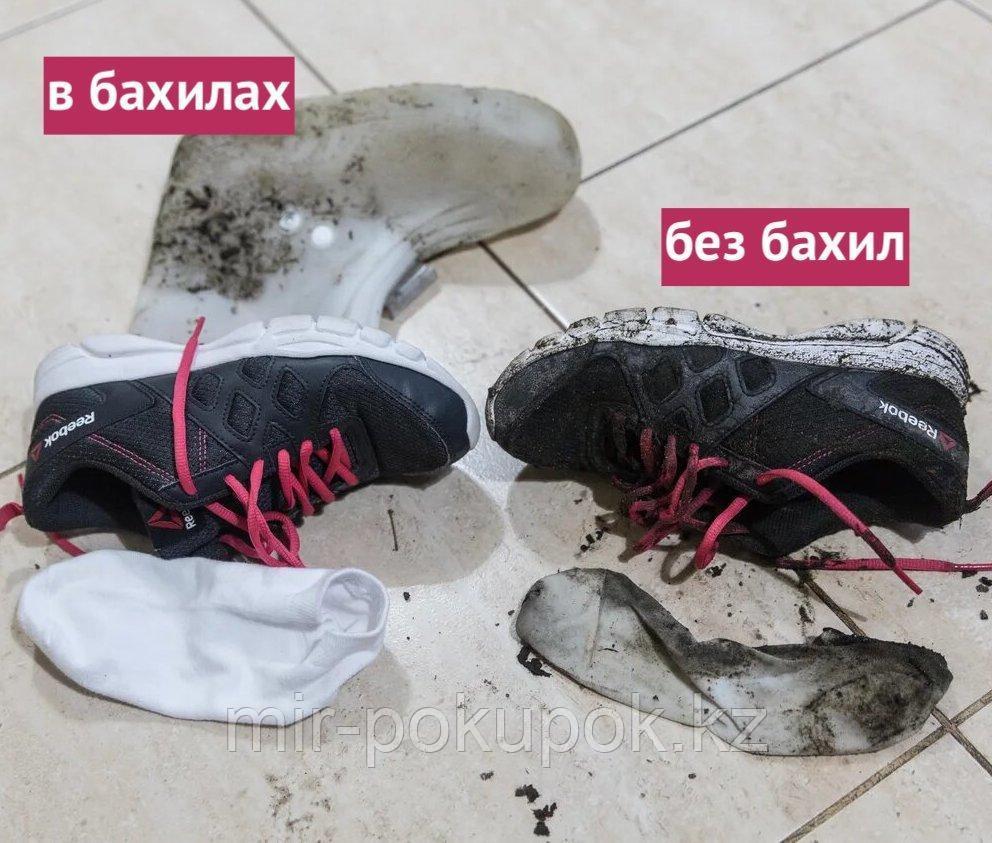 Бахилы силиконовые антискользящие прозрачные водонепроницаемые (дождевики для обуви) - фото 7
