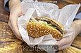 Оберточная бумага для фаст-фуда, подложка для пиццы, с парафином 420*385 (1000шт/уп), фото 2