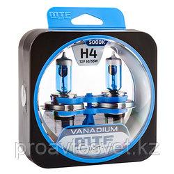 Галогенные автолампы MTF Light серия VANADIUM H4, 12V, 60/55W, комп.