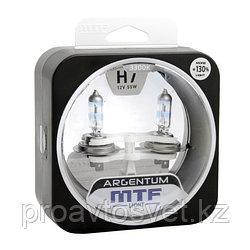 Галогенные автолампы MTF Light серия ARGENTUM +130% H7, 12V, 55W, комп.