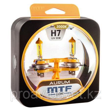 Галогенные автолампы MTF Light серия AURUM H7, 12V, 55W, комп.
