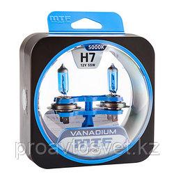 Галогенные автолампы MTF Light серия VANADIUM H7, 12V, 55W, комп.