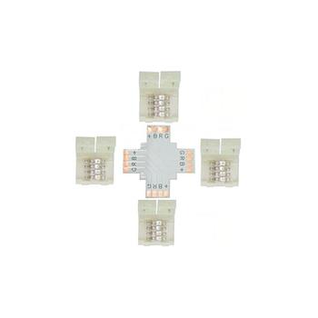 Коннектор X- образный жесткий с фиксатором RGB IP20
