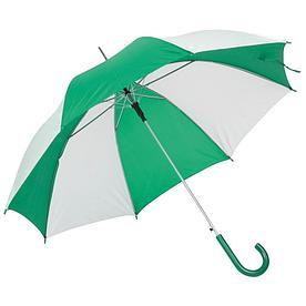Автоматический зонт- трость DISCO & DANCE,бело-зеленый