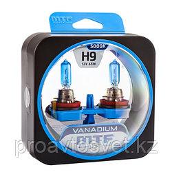 Галогенные автолампы MTF Light серия VANADIUM H9, 12V, 65W, комп.