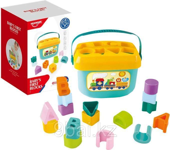 Развивающая игрушка HAUNGER Ведерко-сортер HE0218