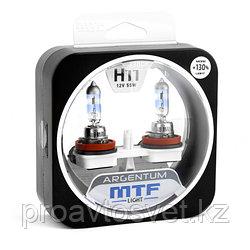 Галогенные автолампы MTF Light серия ARGENTUM +130% H11, 12V, 55W, комп.