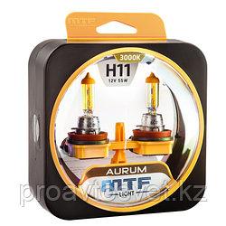 Галогенные автолампы MTF Light серия AURUM H11, 12V, 55W, комп.