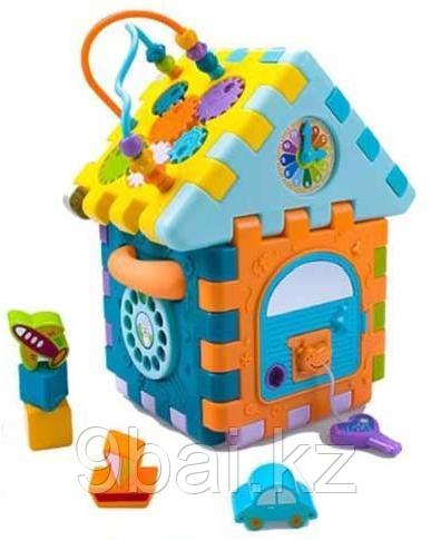 Развивающая игрушка HAUNGER Куб-Сортер Домик HE0528