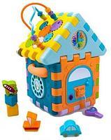 Развивающая игрушка HAUNGER Куб-Сортер Домик HE0528, фото 1