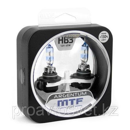 Галогенные автолампы MTF Light серия ARGENTUM +130% HB3(9005), 12V, 65W, комп.