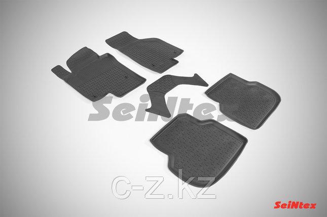 Резиновые коврики с высоким бортом для Volkswagen Jetta (2011-2018), фото 2