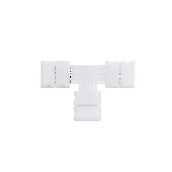 Коннектор Т- образный жесткий с фиксатором 10мм IP20