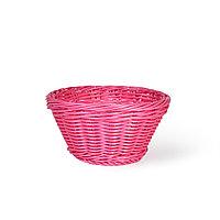 Плетеная корзинка круглая 19x10 см (пластик)
