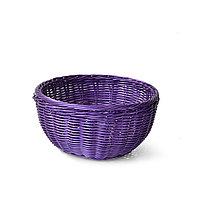Плетеная корзинка круглая 24x10 см (пластик)