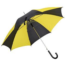 Автоматический зонт- трость DISCO & DANCE,желто-красный