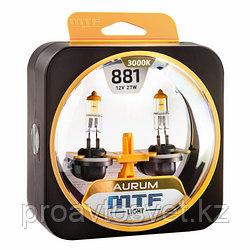 Галогенные автолампы MTF Light серия AURUM Н27(881), 12V, 27W, комп.