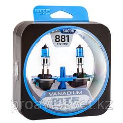 Галогенные автолампы MTF Light серия VANADIUM Н27(881), 12V, 27W, комп.