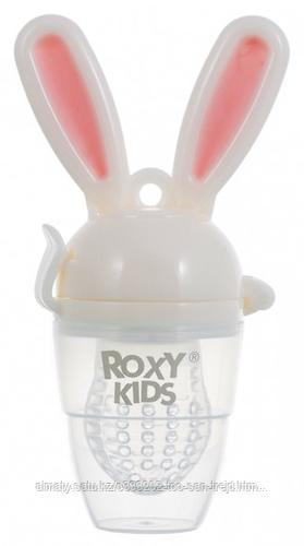Ниблер Roxy Kids для прикорма Bunny Twist силиконовый (розовый)