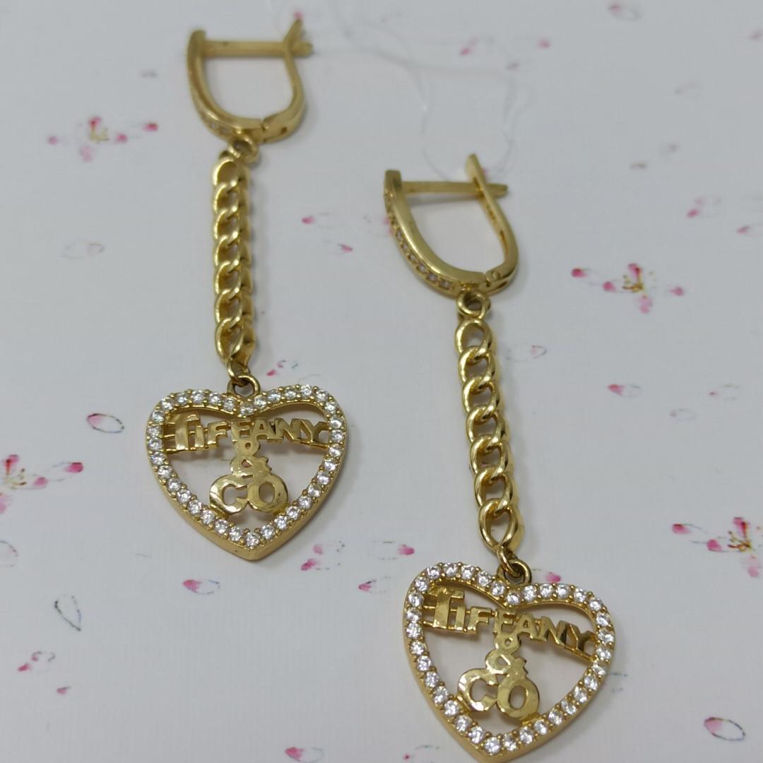 Золотые серьги «Tiffany»