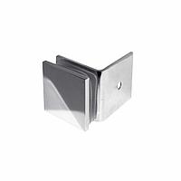 Коннектор DG-1.1 стена-стекло 90˚ | Цинк - Хром, фото 1
