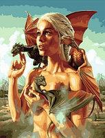"""Картина по номерам """"Как приручить дракона"""", 40х50 см"""