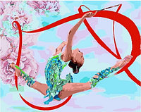 "Картина по номерам ""Гимнастка с лентой"", 40х50 см"