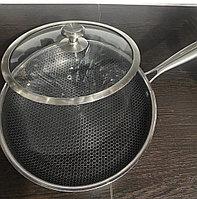 Сковороды антипригарные с крышкой 30 см, фото 1