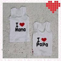 """Детская майка """"Я люблю Маму/Папу"""""""