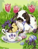"""Картина по номерам """"Пасхальный кролик"""", 30х40 см"""