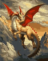 "Картина по номерам ""Летающий дракон"" 30х40 см"