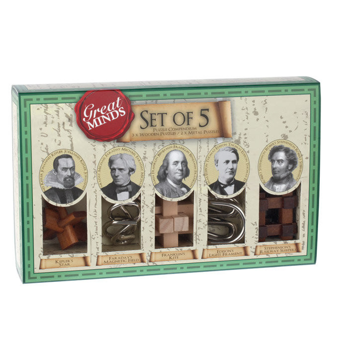 Recent Toys Great Minds Set of 5 Puzzles