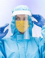 Набор: экран защитный + маски медицинские трехслойные одноразовые