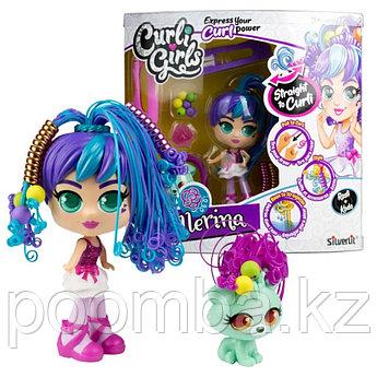 Игровой набор CURLI GIRLS Кукла Балерина Росли со щенком Коди