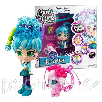 Игровой набор CURLI GIRLS Кукла Путешественница Адели с пуделем Фиджи