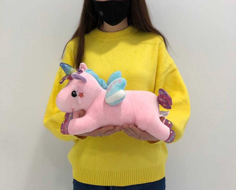 Мягкая игрушка пегас розовый 30см