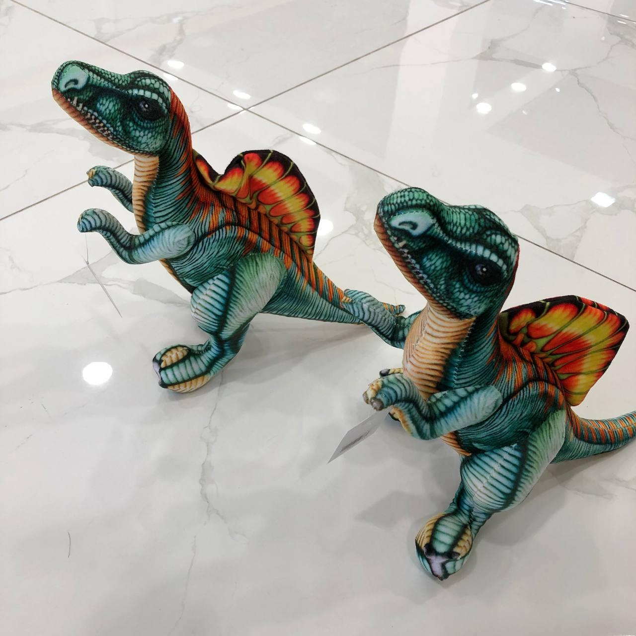 Мягкая игрушка спинозавр 40см