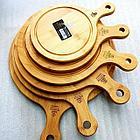 Сервировочная подставка 31*23см Бамбук Wilmax круглая с ручкой, фото 2