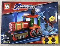Конструктор Heroes Assemble Мстители SY1418В Железный Человек против Человека-Муравья Локомотив