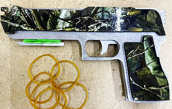 Резинкострел пистолет из дерева (ручная работа)  #made in KZ