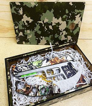 Пистолет и нож из дерева в ящике (ручная работа)  #made in KZ