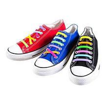 Шнурки для обуви эластичные силиконовые Never tie it {6+6} (Оранжевый), фото 2