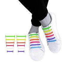 Шнурки для обуви эластичные силиконовые Never tie it {6+6} (Оранжевый), фото 3