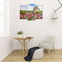 "Картина модульная на подрамнике ""Мельница"" 2шт-25х50, 1шт-30х60 ;60*80 см"