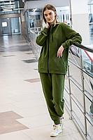 Женский осенний трикотажный зеленый спортивный спортивный костюм GO F3008/28-02.164-170 46р.