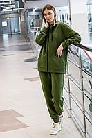 Женский осенний трикотажный зеленый спортивный спортивный костюм GO F3008/28-02.170-176 46р.