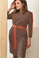 Женское осеннее большого размера платье Angelina 583 48р.
