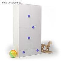 Шкаф створчатый ДМ-ШС-1-1, 932х1816х504 мм, корпус белый, фасад синий